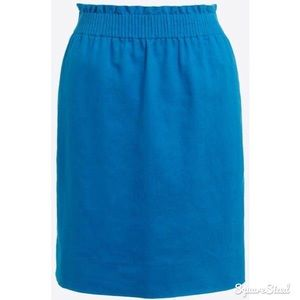 NWT J. Crew Mini Linen Blue Skirt